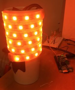 Neopixel light without shade